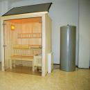 Saunaspaß mit Sonnenkraft – Solarunterstützte Saunakabine hilft Energiekosten sp