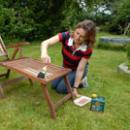 Frischer Look für Teakholz-Möbel